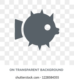 Puffer icon. Trendy flat vector Puffer icon on transparent background from animals  collection. High quality filled Puffer symbol use for web and mobile