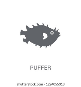 Puffer icon. Trendy Puffer logo concept on white background from animals collection. Suitable for use on web apps, mobile apps and print media.