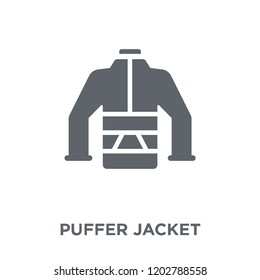 puffer jacket icon. puffer jacket design concept from collection. Simple element vector illustration on white background.