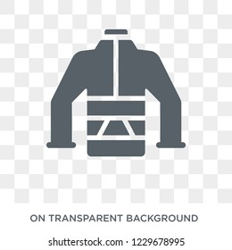 puffer jacket icon. puffer jacket design concept from Puffer jacket collection. Simple element vector illustration on transparent background.