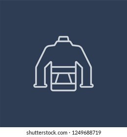 puffer jacket icon. puffer jacket linear design concept from Puffer jacket collection. Simple element vector illustration on dark blue background.
