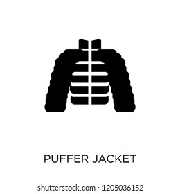 puffer jacket icon. puffer jacket symbol design from Clothes collection. Simple element vector illustration on white background.