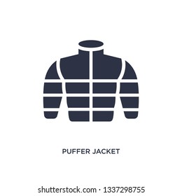 puffer jacket isolated icon. Simple element illustration from clothes concept. puffer jacket editable logo symbol design on white background. Can be use for web and mobile.