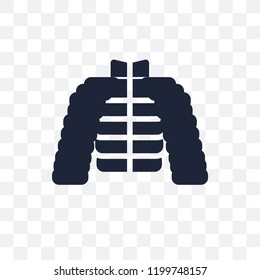 puffer jacket transparent icon. puffer jacket symbol design from Clothes collection. Simple element vector illustration on transparent background.