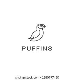puffins bird logo