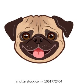 Fantastic Indoor Chubby Adorable Dog - pug-dog-portrait-cartoon-illustration-260nw-1061772404  Trends_861291  .jpg