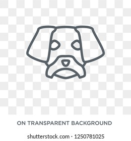 Puggle dog icon. Trendy flat vector Puggle dog icon on transparent background from dogs collection. High quality filled Puggle dog symbol use for web and mobile