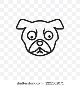 Puggle dog vector linear icon isolated on transparent background, Puggle dog transparency concept can be used for web and mobile