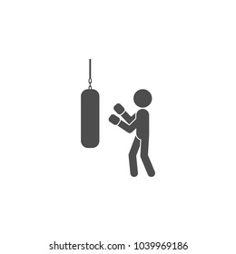 pugilist icon.Element of popular fitness  icon. Premium quality graphic design. Signs, symbols collection icon for websites, web design, on white background