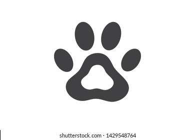 Pugmark icon - big cat food print icon