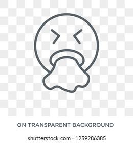 Puking emoji icon. Puking emoji design concept from Emoji collection. Simple element vector illustration on transparent background.