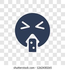 Puking emoji icon. Trendy Puking emoji logo concept on transparent background from Emoji collection