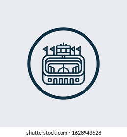 Pula arena glyph icon vector on white background. Flat vector pula arena icon symbol sign from modern monuments collection for mobile concept and web apps design.