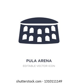 pula arena icon on white background. Simple element illustration from Monuments concept. pula arena icon symbol design.