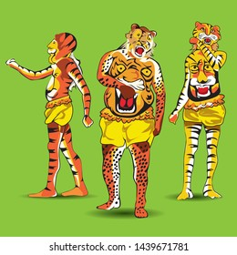 Pulikali, tiger dance of  Onam festival in Kerala