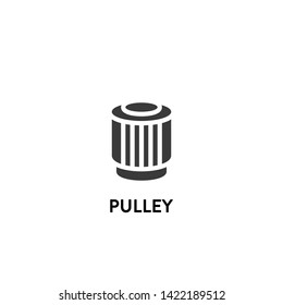 pulley icon vector. pulley vector graphic illustration