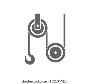 Pulley icon. Pulley wheel icon.