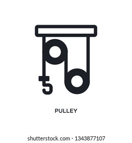 pulley isolated icon. simple element illustration from science concept icons. pulley editable logo sign symbol design on white background. can be use for web and mobile