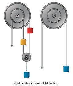 Pulley vector illustration