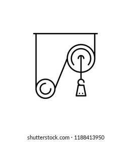 pulley weight icon. Element of physics science for mobile concept and web apps icon. Thin line icon for website design and development, app development