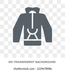 Pullover icon. Pullover design concept from Clothes collection. Simple element vector illustration on transparent background.