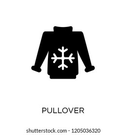 Pullover icon. Pullover symbol design from Clothes collection. Simple element vector illustration on white background.