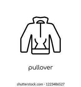 pullover icon. Trendy modern flat linear vector pullover icon on white background from thin line Clothes collection, outline vector illustration