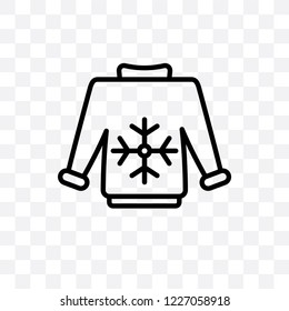 Pullover vector linear icon isolated on transparent background, Pullover transparency concept can be used for web and mobile
