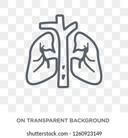 Pulmonary embolism icon. Trendy flat vector Pulmonary embolism icon on transparent background from Diseases collection. High quality filled Pulmonary embolism symbol use for web and mobile