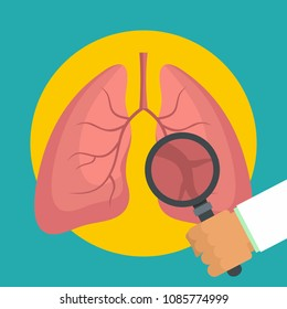 Pulmonary examination icon. Flat illustration of Pulmonary examination vector icon for web design