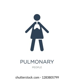 pulmonary icon vector on white background, pulmonary trendy filled icons from People collection, pulmonary vector illustration