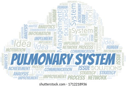Pulmonary System typography vector word cloud.