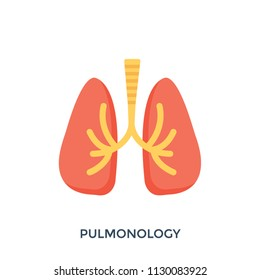 Pulmonology, icon representing the human respiratory system