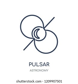 Pulsar icon. Pulsar linear symbol design from Astronomy collection.
