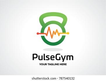 Pulse Gym Logo Template Design Vector, Emblem, Design Concept, Creative Symbol, Icon