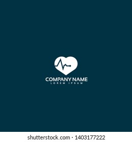 Pulse heart Logo Template Design.pulse icon