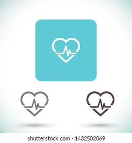 pulse heart people vector icon eps 10 , Lorem ipsum Flat design