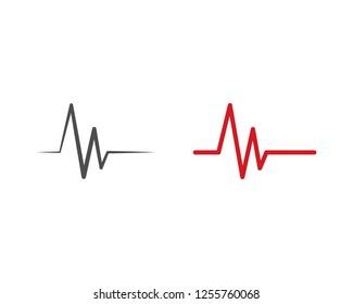 Pulse line ilustration vector template