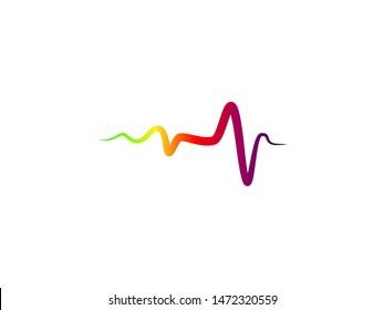 Pulse or Wave Sound Logo Design Template, Element Design, Vector Design.