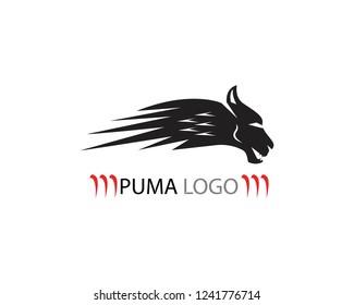 Puma head icon logo template