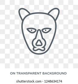 puma icon. Trendy flat vector puma icon on transparent background from animals collection. High quality filled puma symbol use for web and mobile