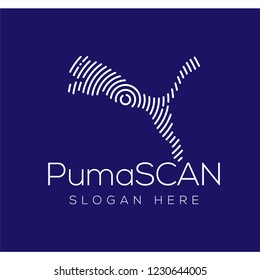 Puma Scan Technology Logo vector Element. Animal Technology Logo Template