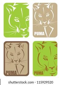 Puma sticker - vector illustration