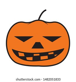 Pumkin icon.flat illustration of pumkin for web