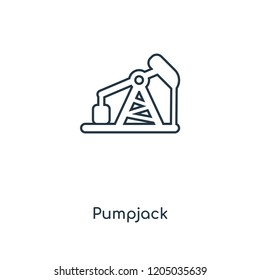 Pumpjack concept line icon. Linear Pumpjack concept outline symbol design. This simple element illustration can be used for web and mobile UI/UX.