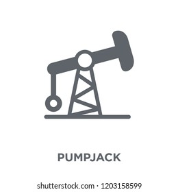 Pumpjack icon. Pumpjack design concept from  collection. Simple element vector illustration on white background.