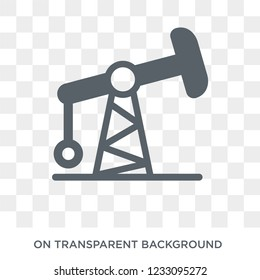 Pumpjack icon. Pumpjack design concept from  collection. Simple element vector illustration on transparent background.