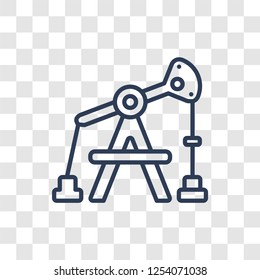 Pumpjack icon. Trendy linear Pumpjack logo concept on transparent background from Industry collection