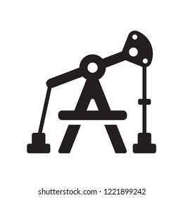 Pumpjack icon. Trendy Pumpjack logo concept on white background from Industry collection. Suitable for use on web apps, mobile apps and print media.