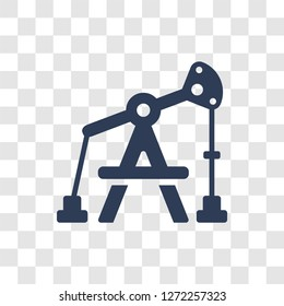 Pumpjack icon. Trendy Pumpjack logo concept on transparent background from Industry collection